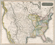 United States, Plains, Southwest, Rocky Mountains and California Map By John Thomson
