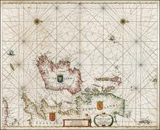 British Isles, Scotland and Ireland Map By Henrdick Doncker