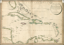 Florida, Caribbean and Central America Map By William Faden