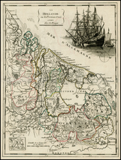 Netherlands and Luxembourg Map By Georges Louis Le Rouge