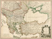 Russia, Ukraine, Balkans, Greece, Turkey and Turkey & Asia Minor Map By William Faden