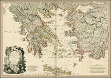 Greece, Turkey and Balearic Islands Map By William Faden