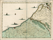 France Map By Johannes Covens  &  Cornelis Mortier