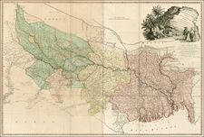 India and Central Asia & Caucasus Map By William Faden
