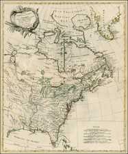 United States, North America and Canada Map By Johann Carl Muller