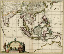 China, India, Southeast Asia, Australia & Oceania and Australia Map By Frederick De Wit