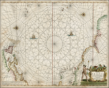 Atlantic Ocean, New England, South America and Canada Map By Hendrik Doncker