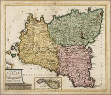 Italy, Mediterranean and Balearic Islands Map By Theodorus I Danckerts