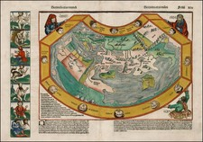 World and World Map By Hartmann Schedel