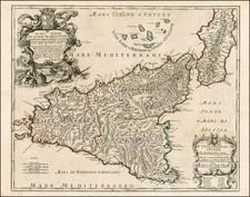 Italy Map By Giacomo Giovanni Rossi - Giacomo Cantelli da Vignola
