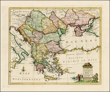 Ukraine, Greece, Turkey and Balearic Islands Map By Giambattista Albrizzi