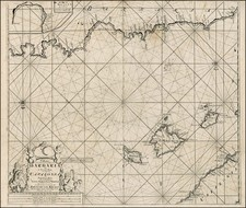 Spain, Mediterranean, Balearic Islands and North Africa Map By Johannes Van Keulen