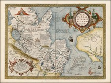Southwest, Alaska, China, Japan, Central Asia & Caucasus, Russia in Asia and California Map By Abraham Ortelius