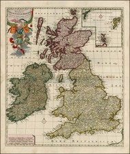 British Isles Map By Peter Schenk