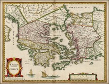 Greece and Balearic Islands Map By John Speed
