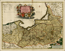 Germany, Poland and Baltic Countries Map By Frederick De Wit
