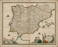 Spain and Portugal Map By Hugo Allard
