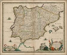 Spain and Portugal Map By Hugo Allard