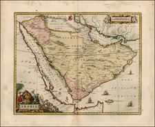 Middle East Map By Johannes Blaeu