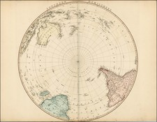Southern Hemisphere, Polar Maps, Australia and Oceania Map By William Faden