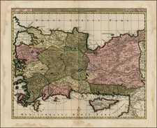 Greece, Turkey, Balearic Islands and Turkey & Asia Minor Map By Nicolaes Visscher I