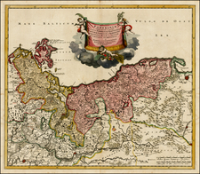 Poland, Baltic Countries and Germany Map By Theodorus I Danckerts
