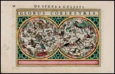 Celestial Maps Map By Petrus Bertius