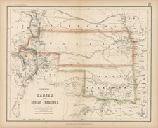 Texas, Plains and Rocky Mountains Map By Henry Darwin Rogers  &  Alexander Keith Johnston