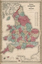British Isles Map By Joseph Hutchins Colton