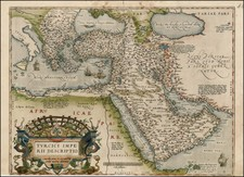 Turkey, Mediterranean, Middle East and Turkey & Asia Minor Map By Abraham Ortelius