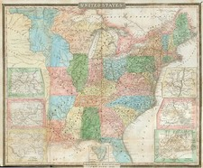 United States Map By David Hugh Burr / B. Davenport