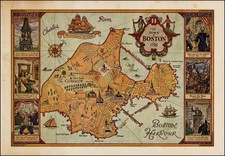 New England Map By Anonymous