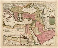 Turkey, Mediterranean, Middle East and Turkey & Asia Minor Map By Peter Schenk