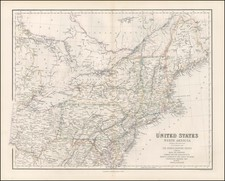 New England, Mid-Atlantic and Midwest Map By Archibald Fullarton & Co.