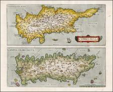 Greece, Turkey, Mediterranean and Balearic Islands Map By Abraham Ortelius