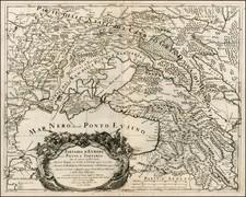 Poland, Russia and Ukraine Map By Giacomo Giovanni Rossi - Giacomo Cantelli da Vignola