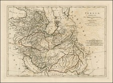 Central Asia & Caucasus and Middle East Map By Samuel Dunn