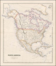 North America Map By Archibald Fullarton & Co.