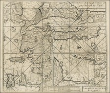 Greece, Turkey, Balearic Islands and Turkey & Asia Minor Map By Johannes Van Keulen