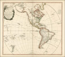 Western Hemisphere, South America and America Map By William Faden