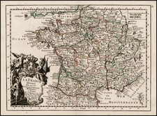 France Map By Georges Louis Le Rouge