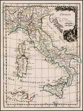 Italy and Balearic Islands Map By George Louis Le Rouge