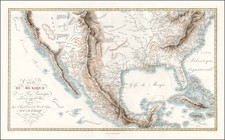 Texas, Plains, Southwest, Rocky Mountains and California Map By Alexander Von Humboldt