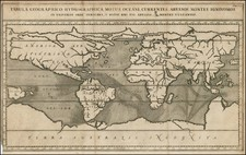 World and World Map By Athanasius Kircher
