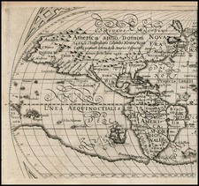 Western Hemisphere, North America, South America, Oceania and America Map By Ephraim Pagitt