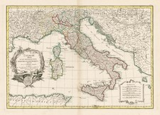 Italy, Mediterranean and Balearic Islands Map By Jean Janvier