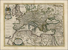 Europe, Europe, Mediterranean, Middle East, Turkey & Asia Minor and North Africa Map By Nicholaus Blankaart