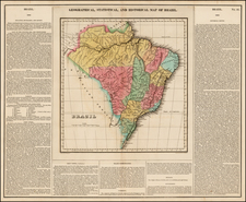 South America and Brazil Map By Henry Charles Carey  &  Isaac Lea