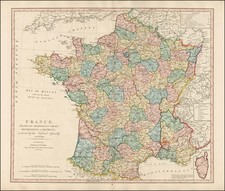 France Map By William Faden