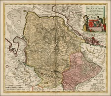 Germany Map By Cornelis II Danckerts